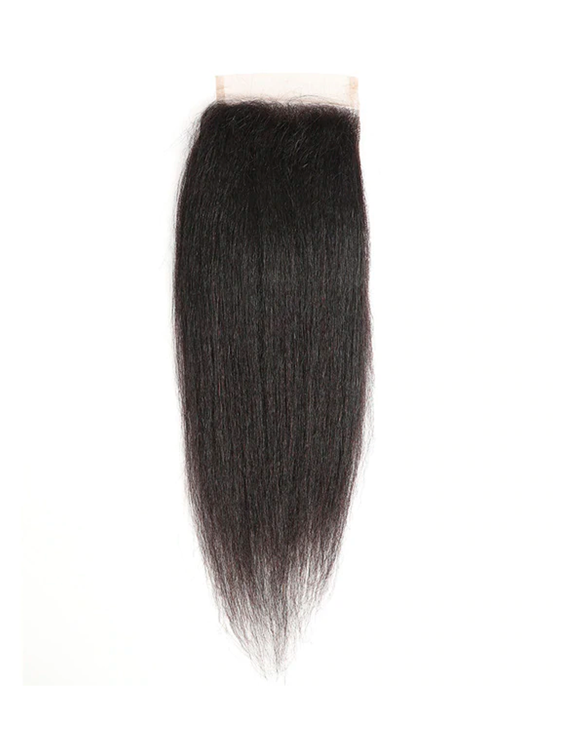 Lustro Yaki Straight Remy Human Hair HD Lace Closure