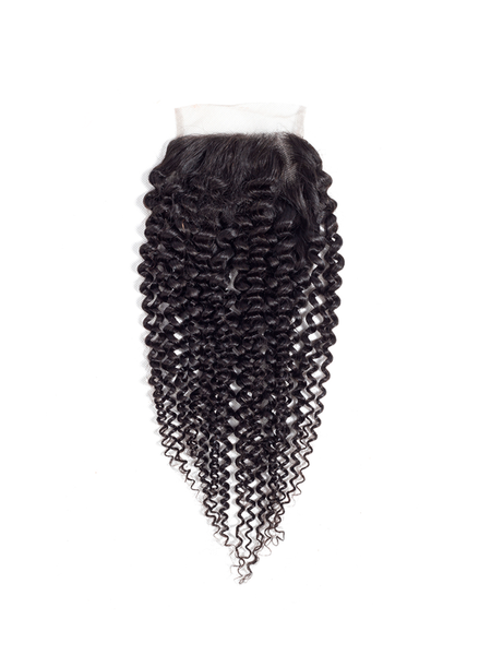 Lustro PREMIER Kinky Curly Remy Human Hair HD Lace Closure