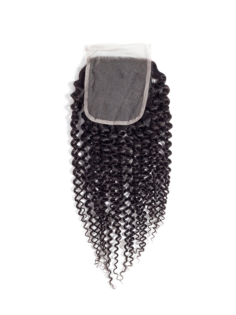 Lustro Kinky Curly Remy Human Hair HD Lace Closure