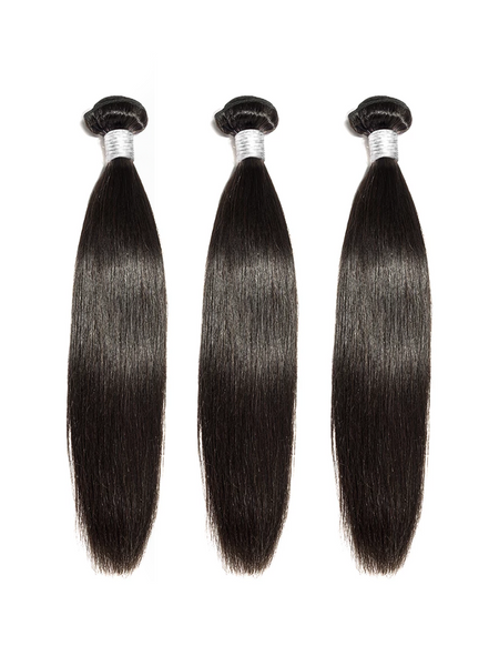 Lustro Straight 3pcs Double Weft Remy Human Hair Bundles
