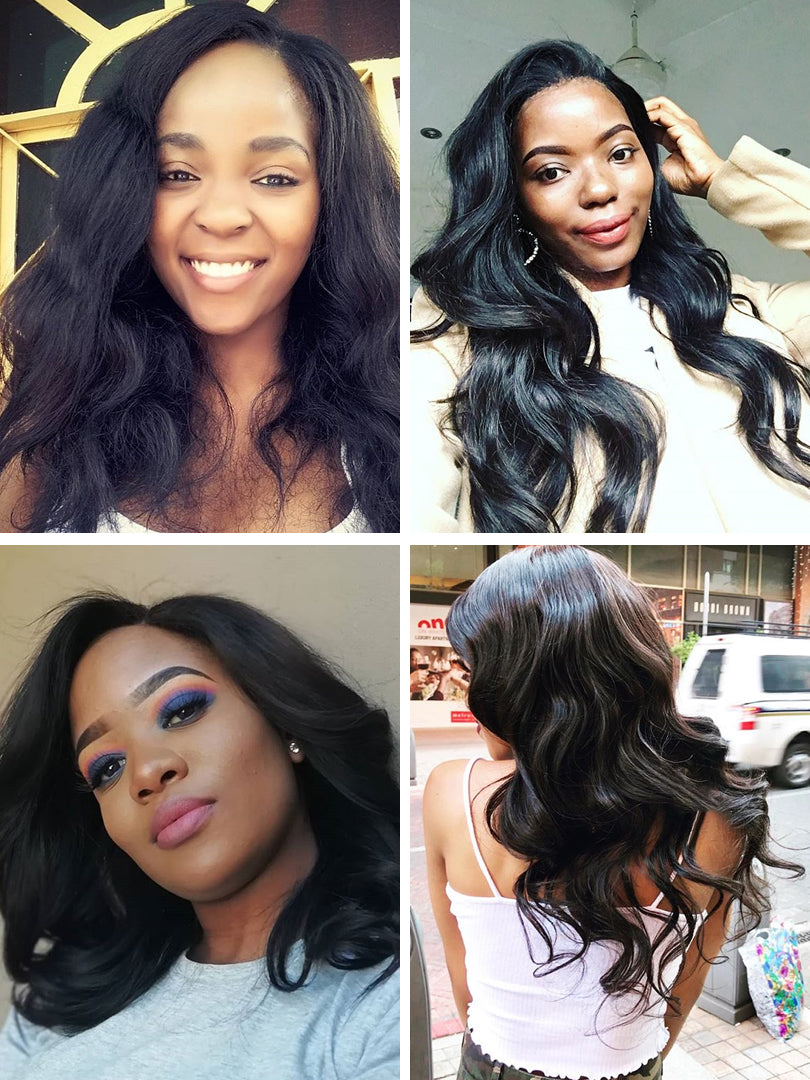 Lustro Loose Wave 3pcs Double Weft Natural Remy Human Hair Bundles