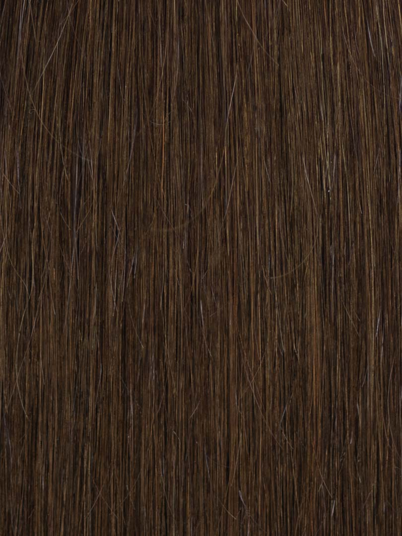 Lustro Straight Hand-Tied Weft Darkest Brown(#2) Remy Human Hair Extension(100 Grams)  - FINAL SALE