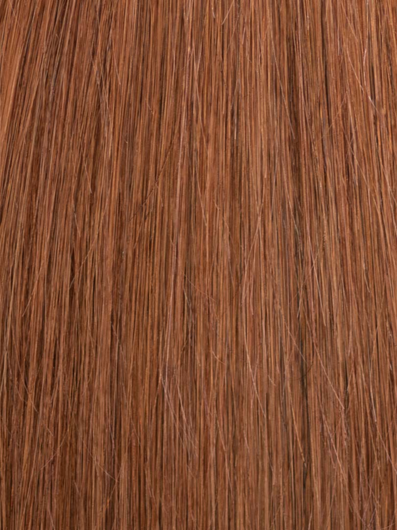 Lustro Straight Hand-Tied Weft Medium Auburn(#30) Remy Human Hair Extension(100 Grams)  - FINAL SALE