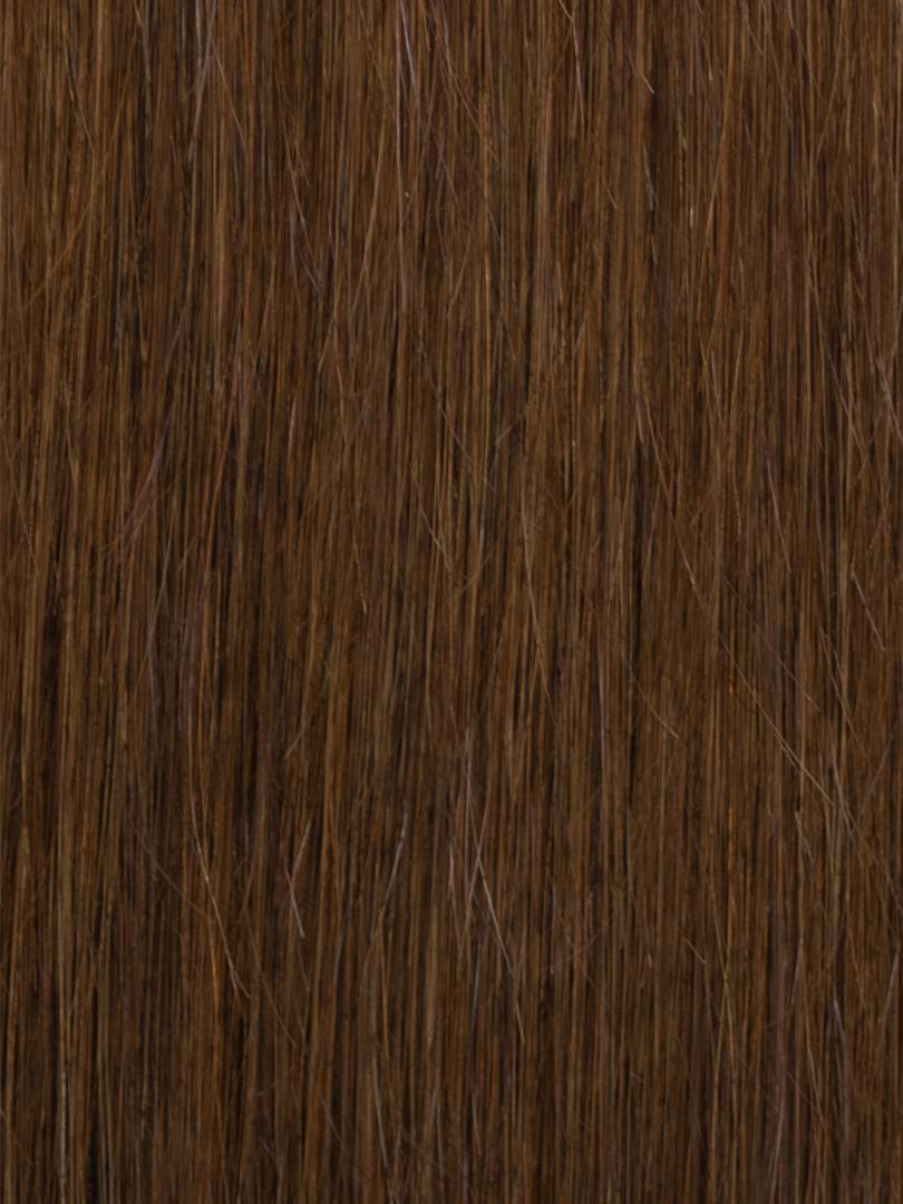 Lustro Straight Hand-Tied Weft Dark Brown(#4) Remy Human Hair Extension(100 Grams)  - FINAL SALE