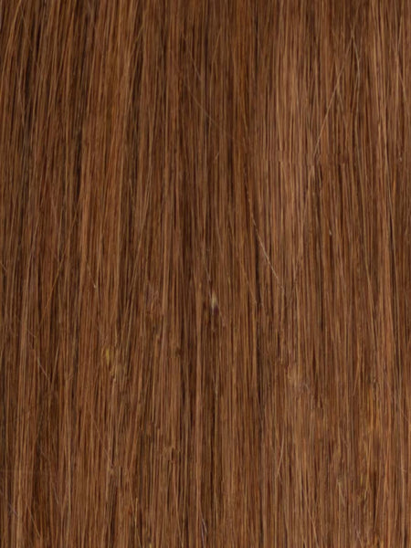 Lustro Straight Hand-Tied Weft Medium Brown(#6) Remy Human Hair Extension(100 Grams)  - FINAL SALE