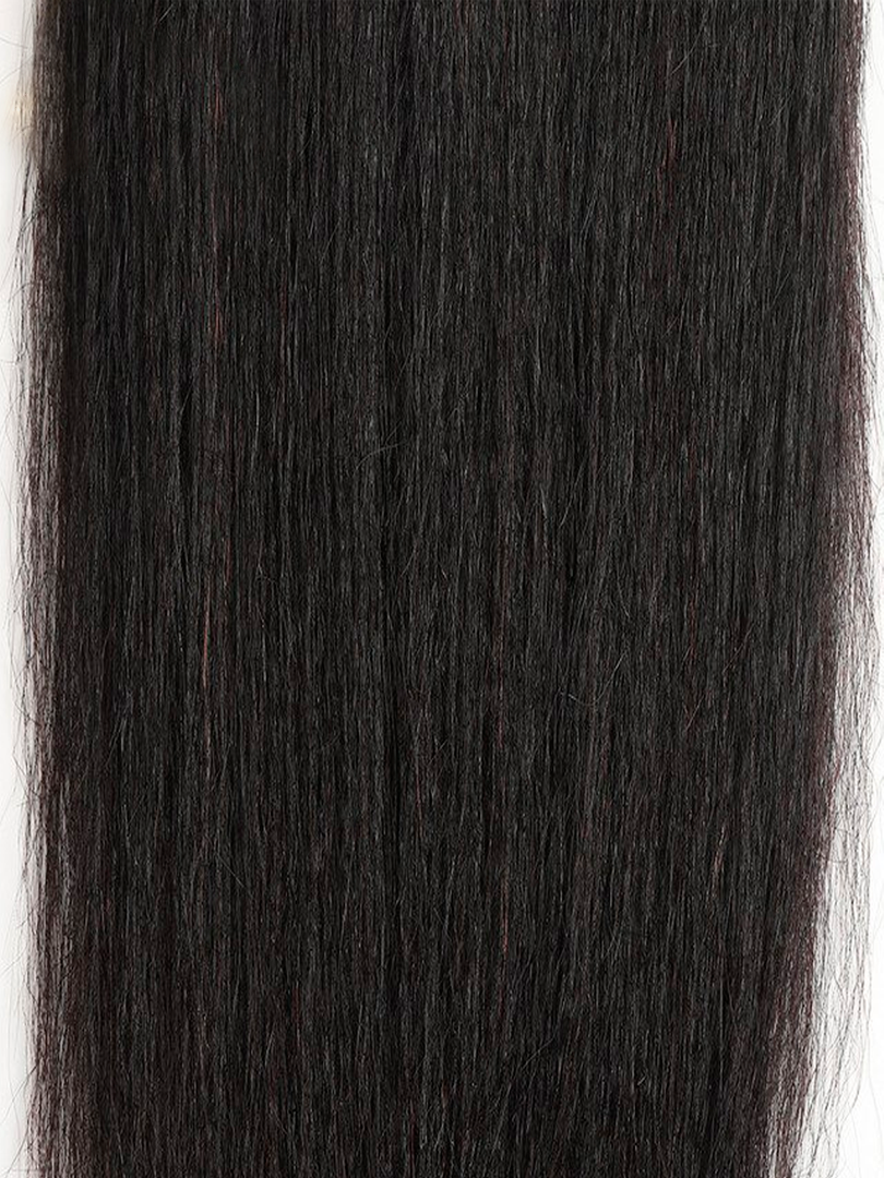Lustro Yaki Straight Remy Human Hair Lace Closure