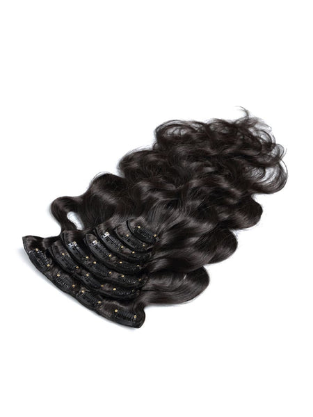 Lustro Body Wave  7pcs Clip-in Human Hair Extensions