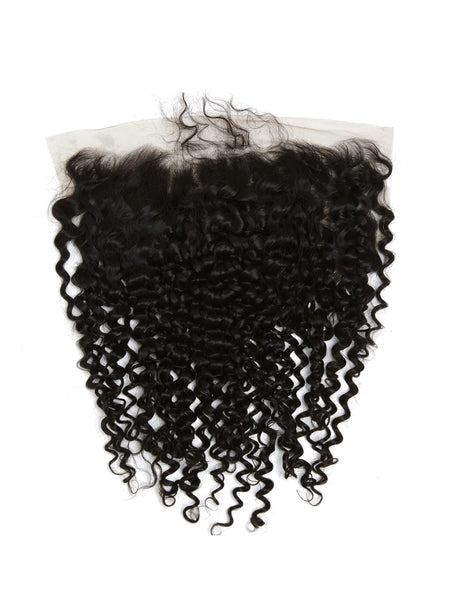 Lustro LUXURY Kinky Curly 13*4 Remy Human Hair Lace Frontal