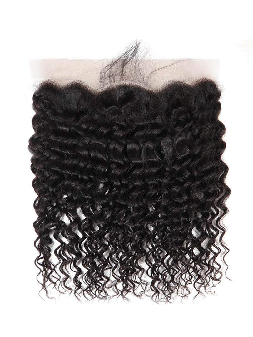Lustro Deep Wave 13*4 Remy Human Hair HD Lace Frontal