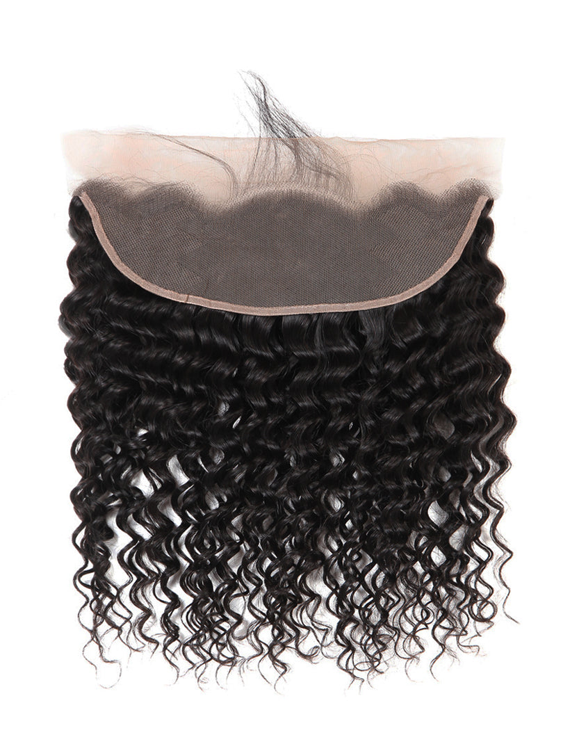 Lustro Deep Wave Remy Human Hair Lace Frontal