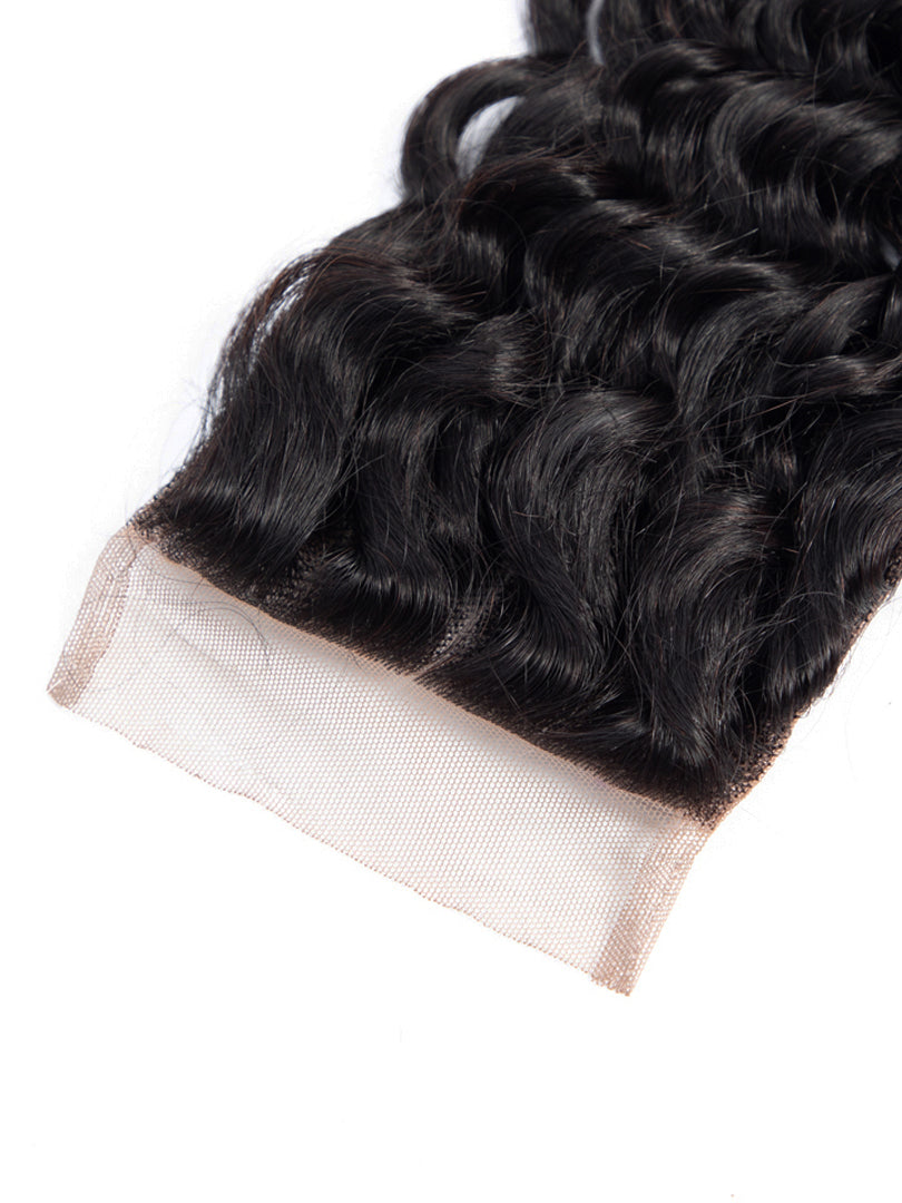 Lustro Deep Wave Remy Human Hair Lace Closure