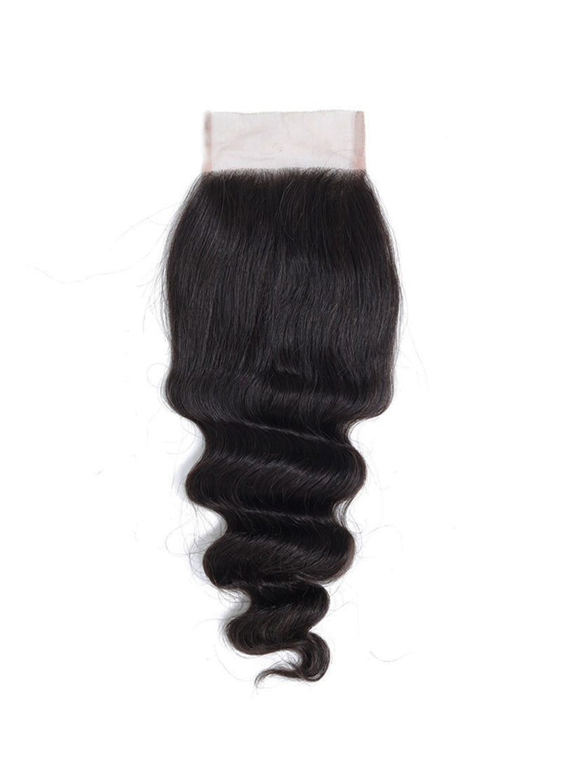 Lustro Loose Wave Remy Human Hair Lace Closure