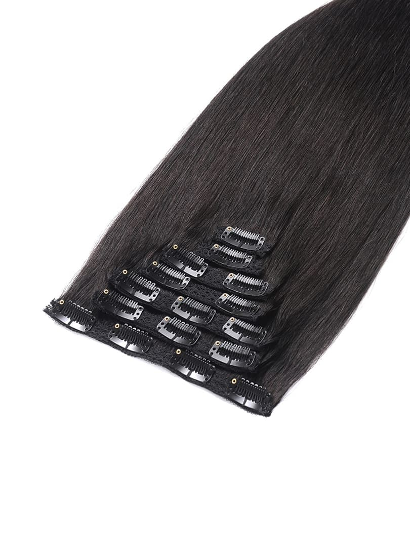 Lustro Straight Thin 7pcs Clip-in Human Hair Extensions