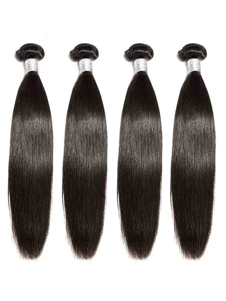 Lustro Straight 4pcs Double Weft Remy Human Hair Bundles