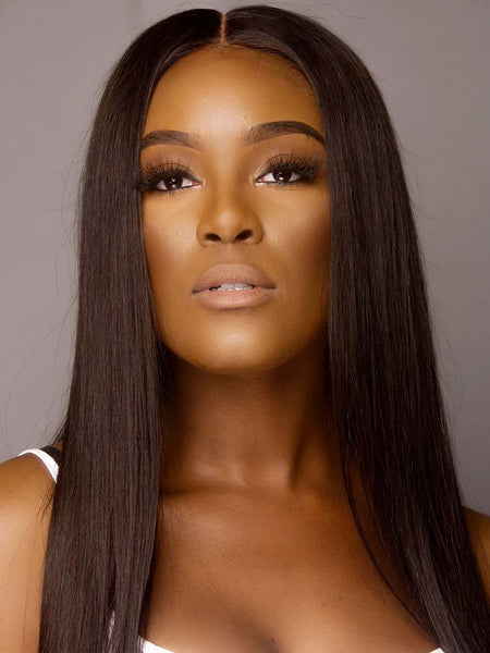 Lustro LUXURY 150% Density Straight Closure Wig