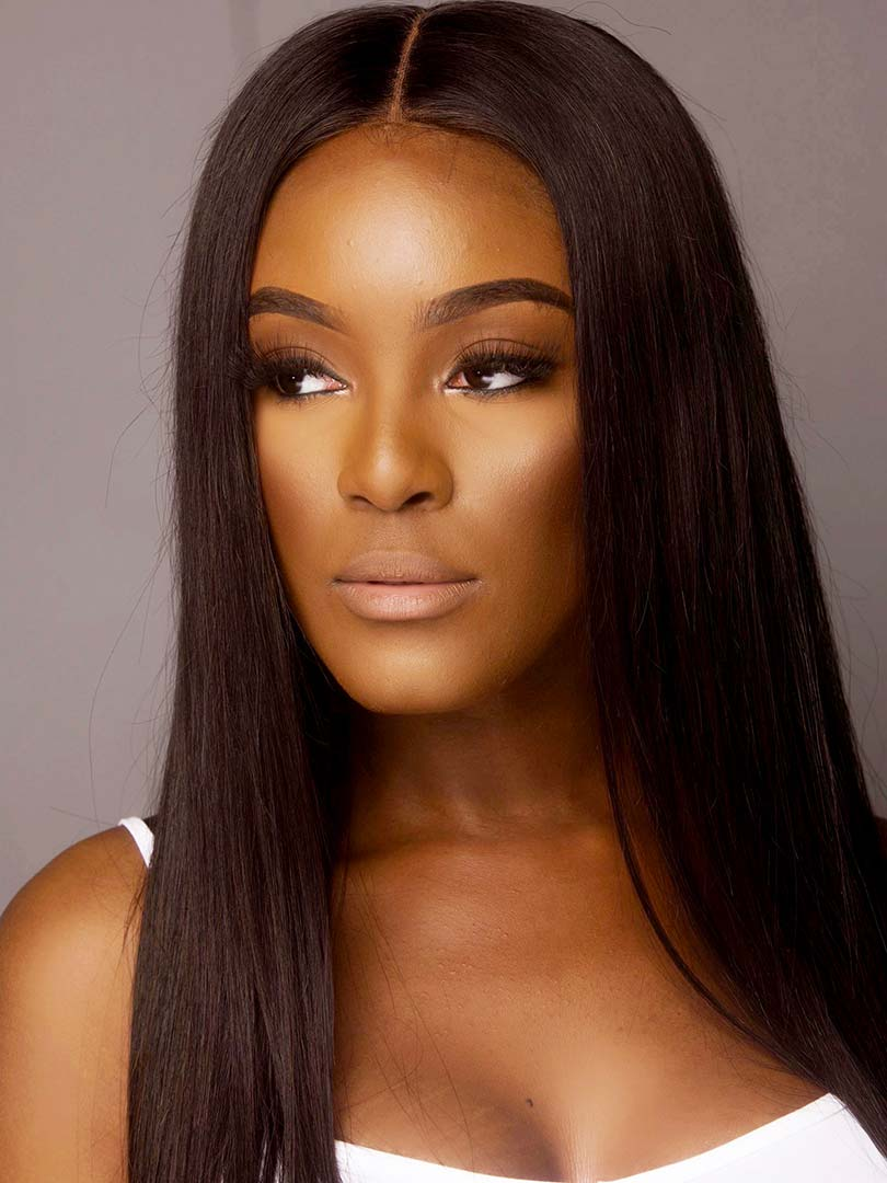 Lustro PREMIER 120% Density Straight Closure Wig