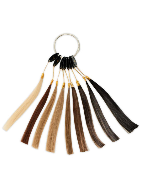 Sample Color Ring Hand-Tied Wefts Hair Extensions