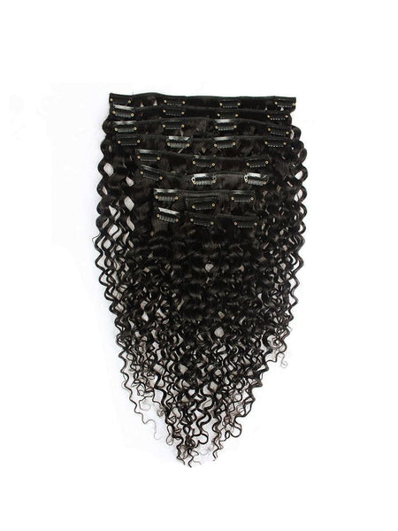 Lustro Loose Curly 7pcs Clip-In Human Hair Extensions