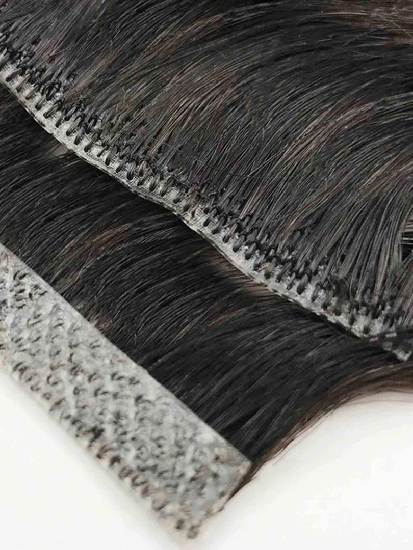 Lustro Skin Weft Tape-in Straight Natural Human Hair Extensions