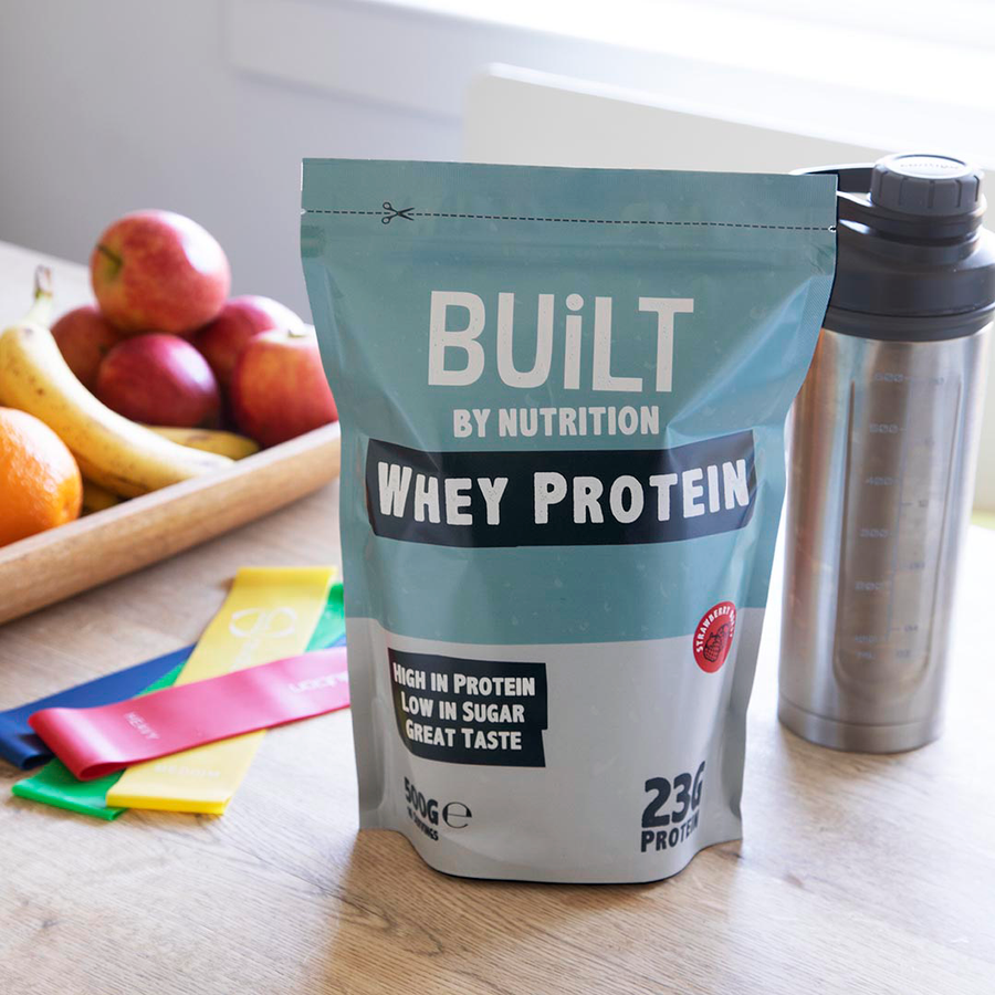 Built By Nutrition Strawberry Whey Protein