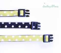 Navy Polka-Dot Pet Collar – Small