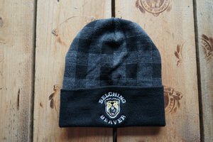 Black Plaid Beanie