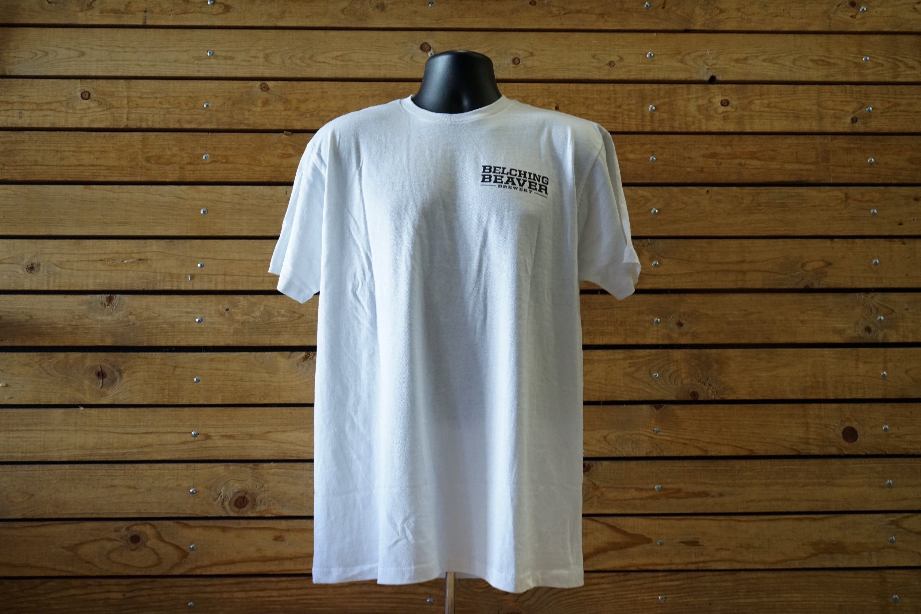 Men's S/S White Classic with Color Logo