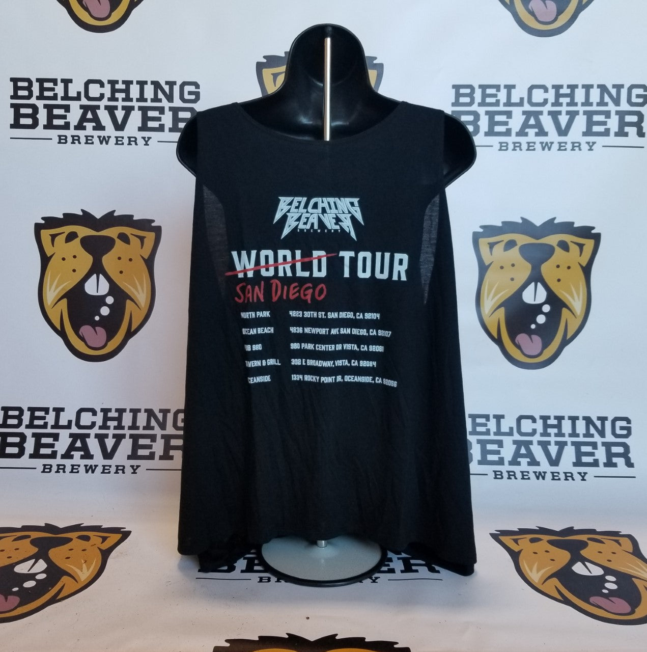 Women's Black Tour Tank