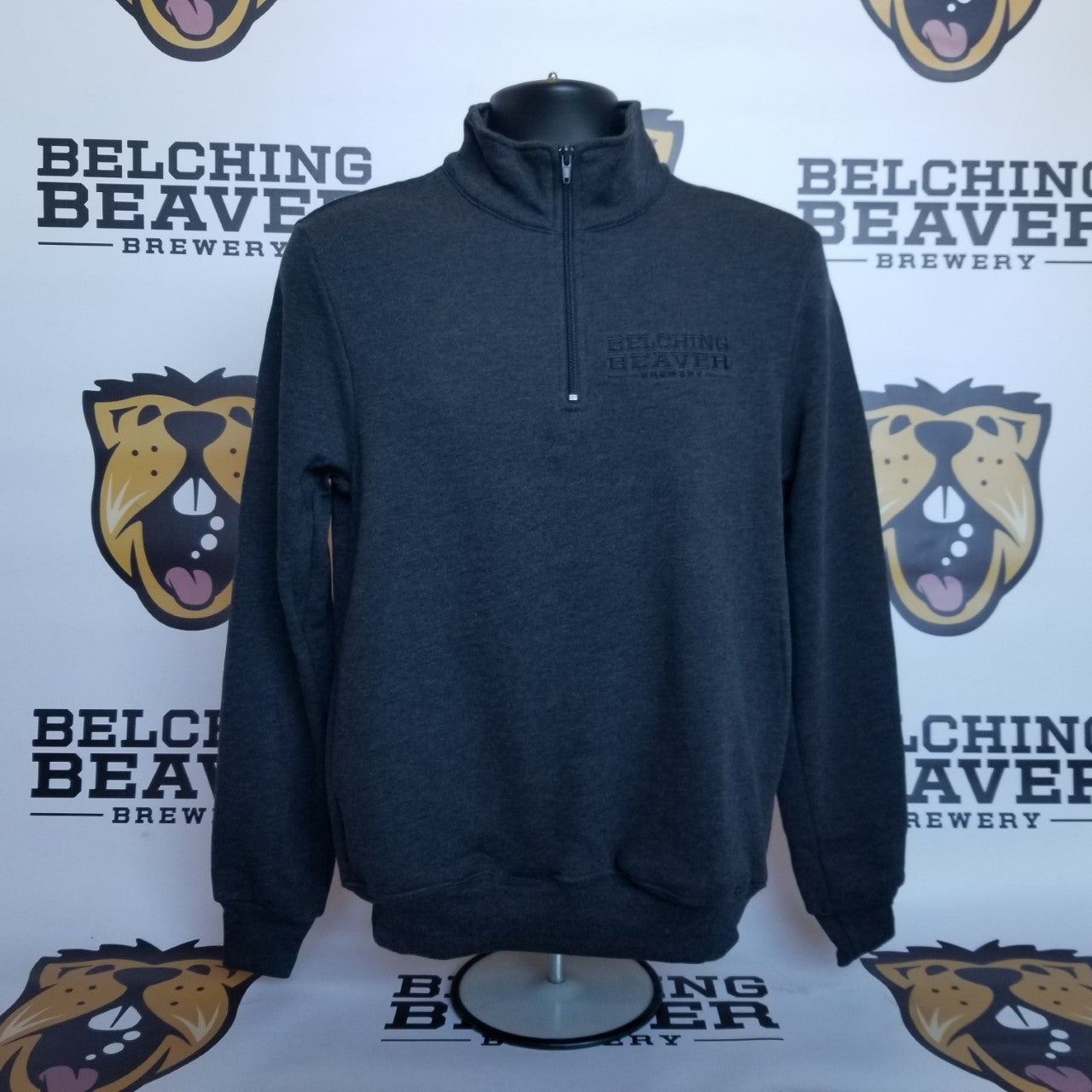 1/4 Zip Charcoal Pullover