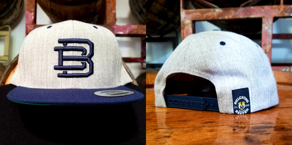 Grey/Navy BB Snapback