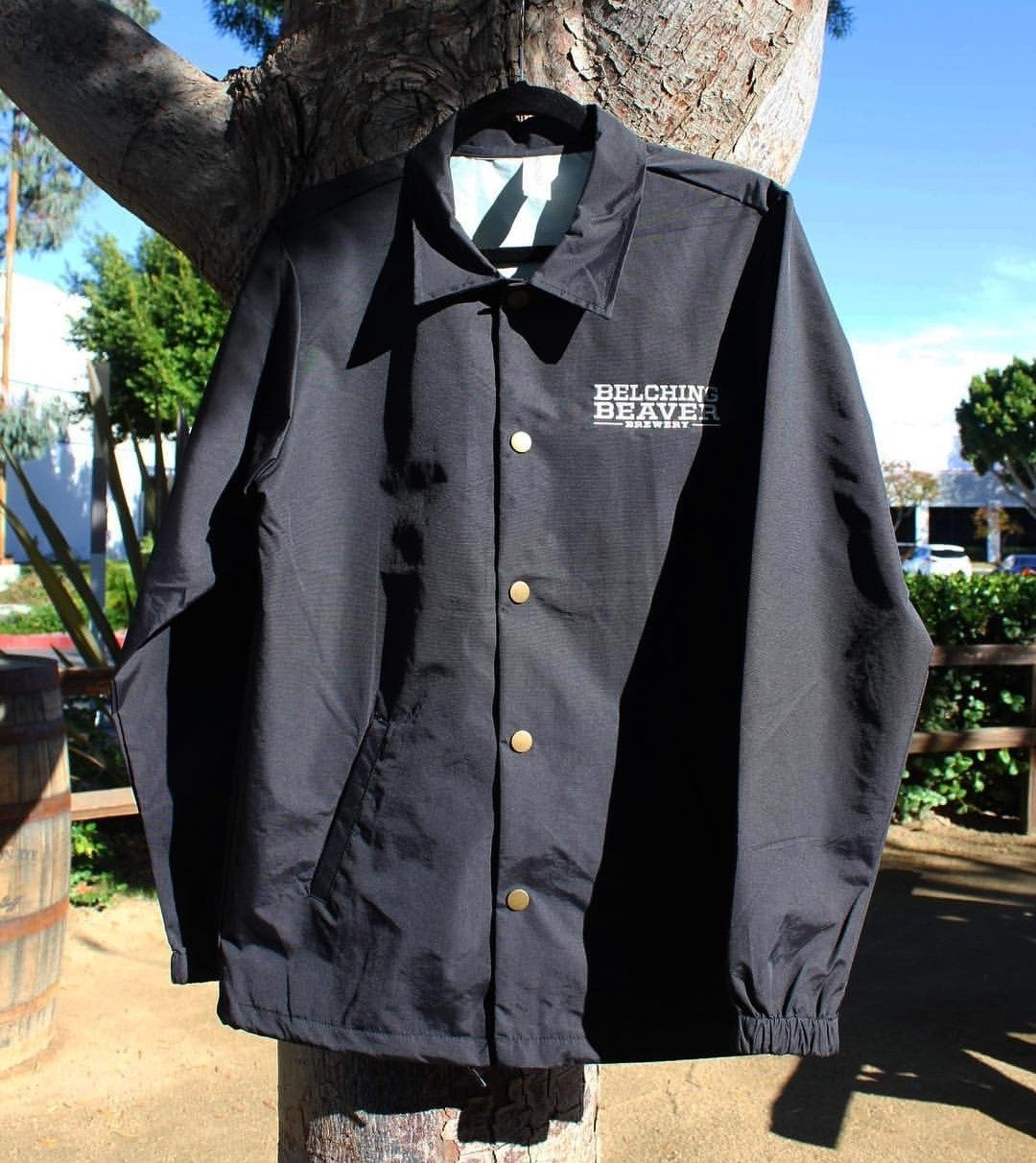 Windbreaker Button-up Jacket