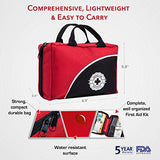 First Aid Kit - 150 Piece - for Car, Travel, Camping, Home, Office, Sports, Survival | Complete Emergency Bag fully stocked with high quality medical supplies