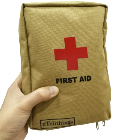 FIRST AID KITS FULLY STOCKED SMALL MEDICAL EMT DISASTER EMERGENCY IFAK MED KITS PORTABLE FOR HOME SHELTER TRAVEL BACKPACK CAMPING HIKING VEHICLES