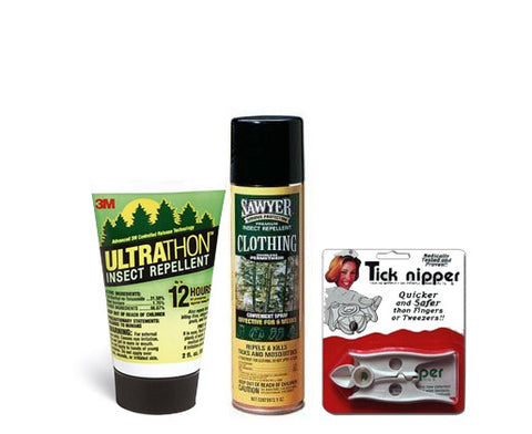 Lime Disease Prevention Kit, Ultrathon, Permethrin, tick nipper