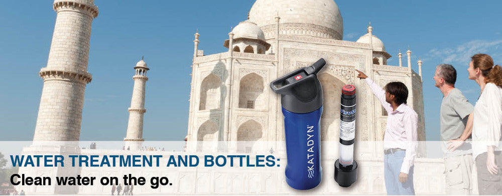 Water Treatment and Bottles for safe, clean drinking water wherever you go