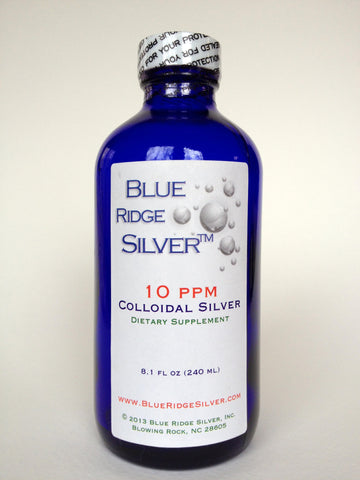 10 ppm 8 ounce Colloidal Silver - Glass