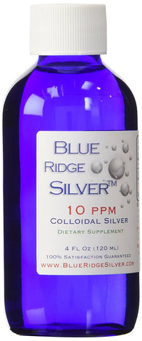10 ppm 4 ounce Colloidal Silver - Glass