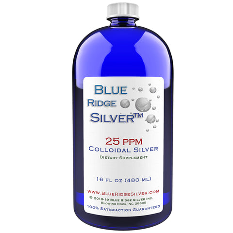 Blue Ridge Silver 25 ppm Colloidal Silver - 16 oz