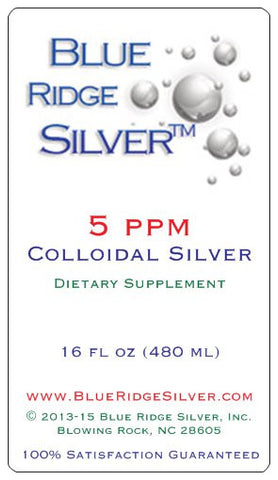 5 ppm 16 Ounce Colloidal Silver