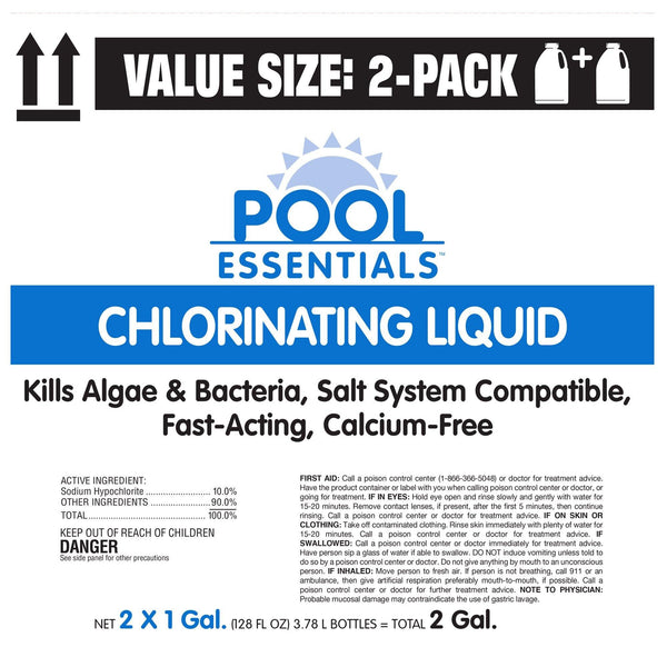 Pool Essentials Chlorinating Liquid, Value Size 2-pack