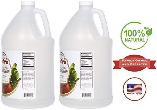 All Natural Distilled White Vinegar for Cleaning, 1 Gallon 128oz. (Pack of 2)