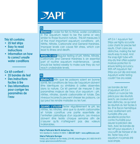 API Ammonia Test Strips for Swimming Pools, Fish Ponds, Freshwater & Saltwater Aquarium