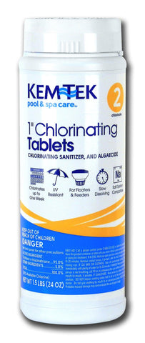 Kem-Tek Chlorinating Tablets 1-Inch for Pools and Spa