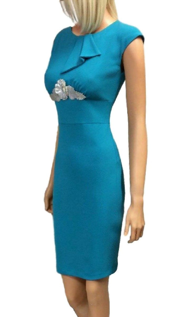 4-4511 (SIZE 8 ONLY) Teal Casting Dress