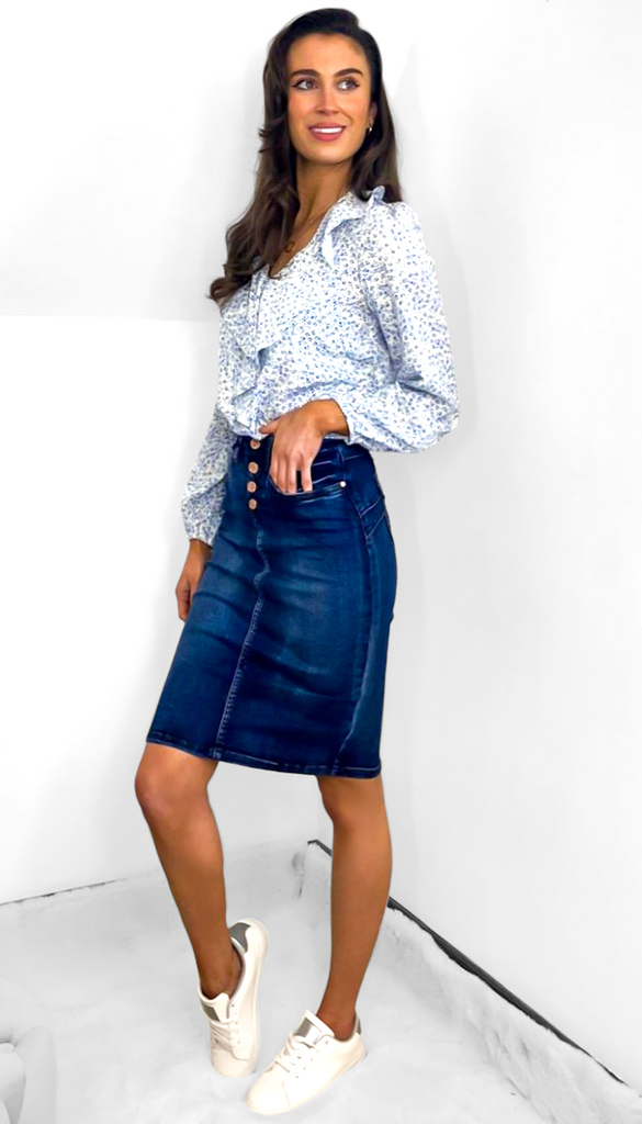 7622 Alicia Denim Skirt