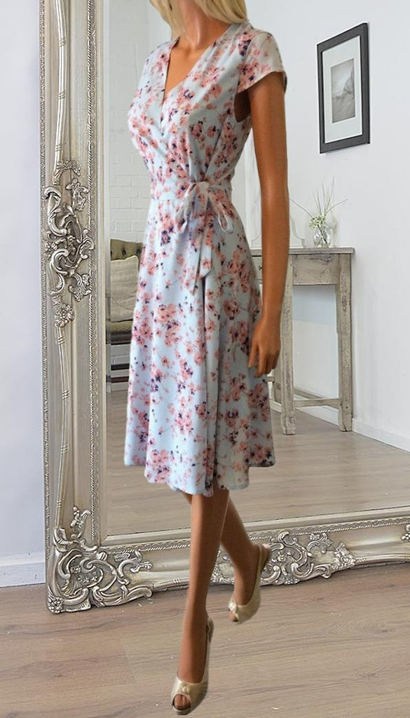 4719 Rant & Rave Floral Wrap Dress