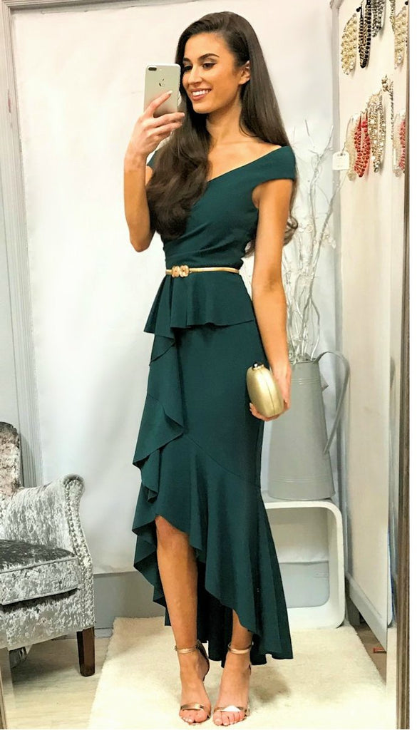 5167 Green Mermaid Frill Dress ---- (SIZE 8 ONLY)