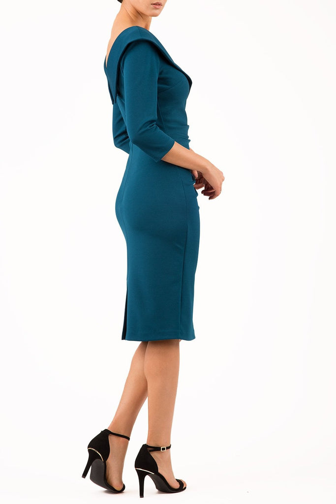 5239 Glorious Teal Eliza Dress