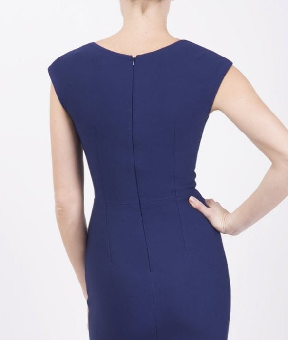4-5254 Navy Vivian Sweetheart Dress ---- (SIZE 8,10 ONLY)