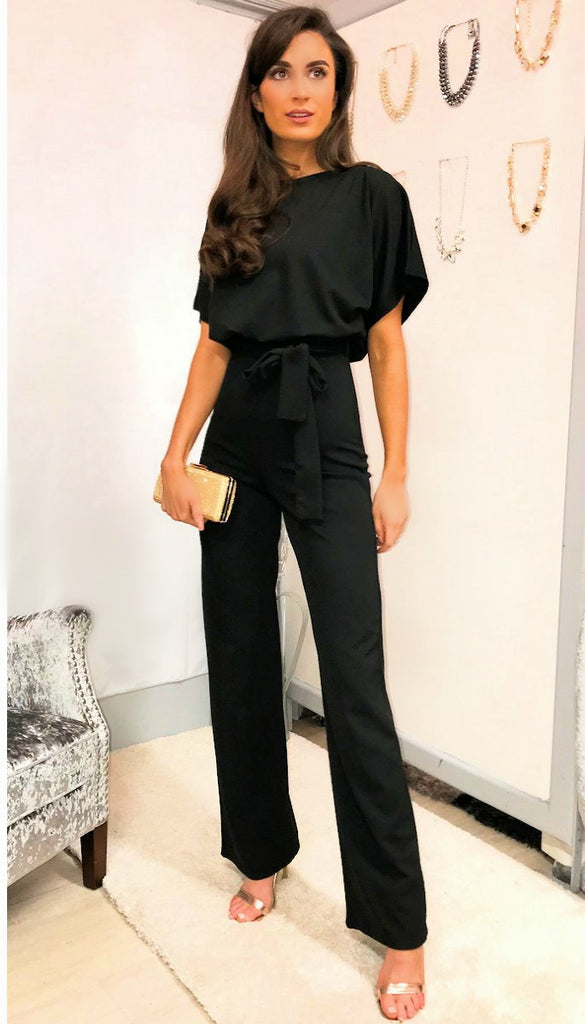 5333 Black Batwing Jumpsuit
